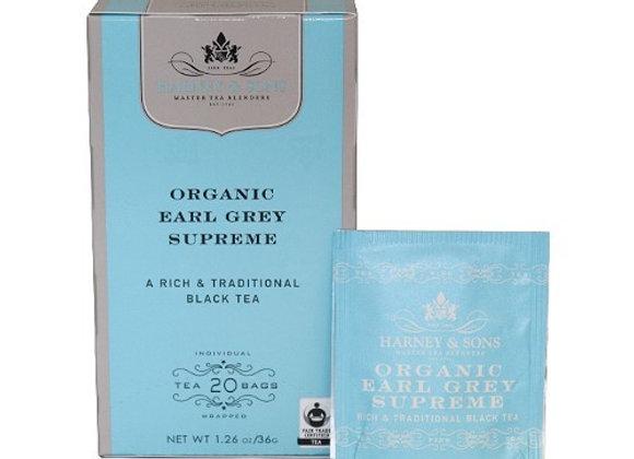 Black Earl Grey Supreme Tea HARNEY & SONS (20 teabags per box)