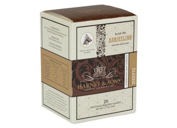 Black Darjeeling Sachets HARNEY & SONS (20 Sachets per box)