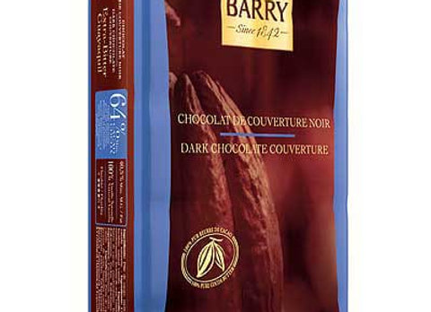 Dark Couverture Extra Bitter 64% CACAO BARRY weighed by the KG-Kosher