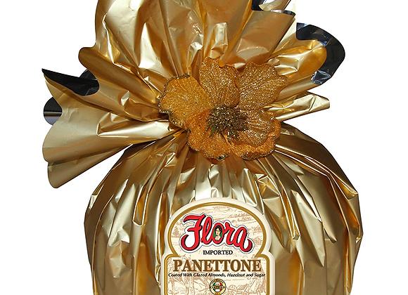 Pannetonne glazed almonds and hazelnut FLORA