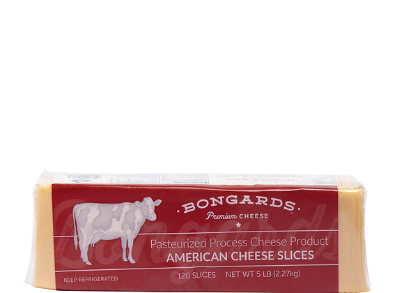 120 Sliced Stacked American Yellow Cheese BONGUARDS  weighed by the KG