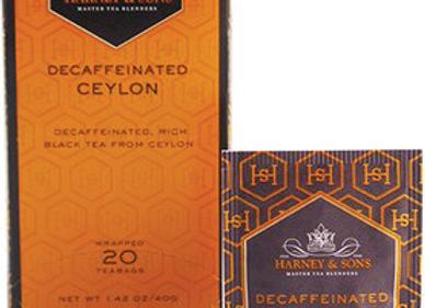 Decaf Black Decaf Ceylon Tea HARNEY & SONS (20 teabags per box)