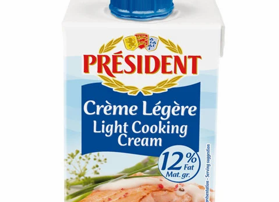 Low fat Cooking Cream 12% fat PRESIDENT