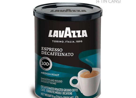 Decaf Cans LAVAZZA green tin-Kosher