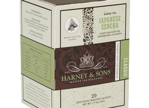 Green Japanese Sencha Sachets HARNEY & SONS (20 Sachets per box)