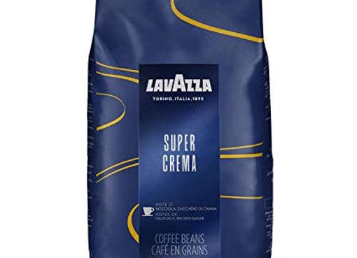 Super Crema Roasted Beans - Expresso beans LAVAZZA makes about 140 espressos