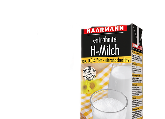UHT Skimmed Milk 0% without cap NAARMAN