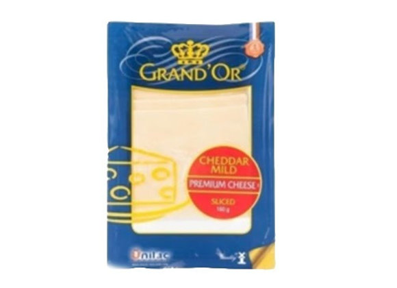 White Cheddar slices 50% fat GRAND'OR