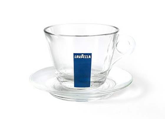 Glass espresso cup blu collection