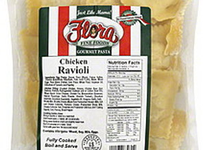 Frozen Ravioli Chicken Gourmet Filled FLORA (10 x 1lb) (454g)