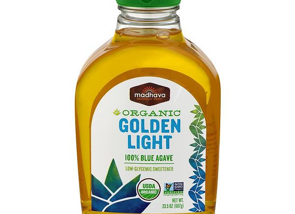 Vegan Organic  Amber light 100% blue agave MADHAVA