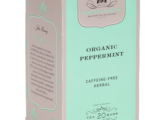 Herbal Organic Peppermint Tea HARNEY & SONS (20 teabags per box)