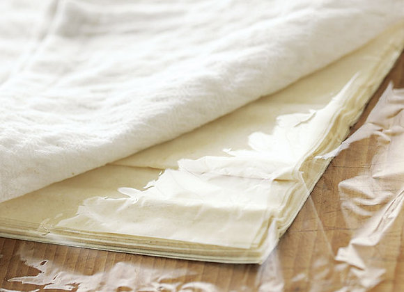 "Filo Dough Pastry Sheets  Approx. 20 sheets per packet (14""x18"")"