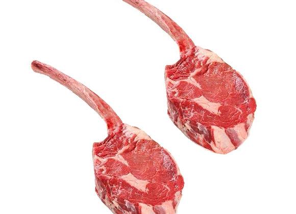 Veal chop lollipop