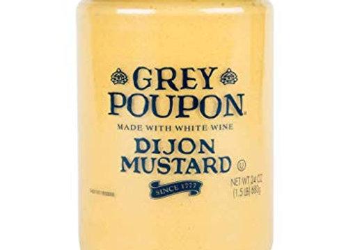 Mustard Dijon GREY POUPON   Made With White Wine