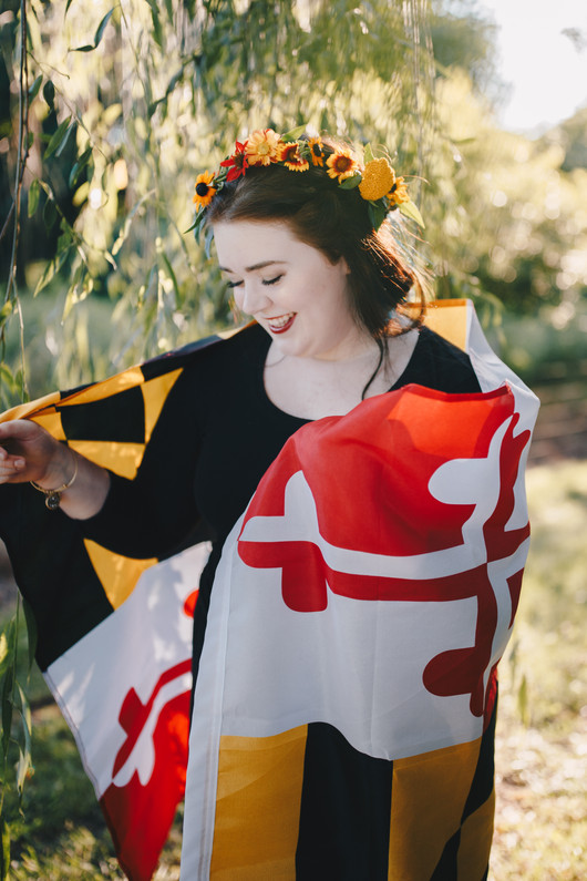 Flower crown photo session, Maryland inspired, Maryland themed
