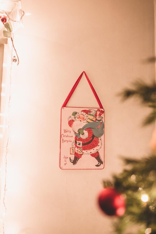 Vintage christmas countdown, santa countdown