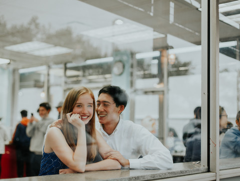 Duck donuts engagement session