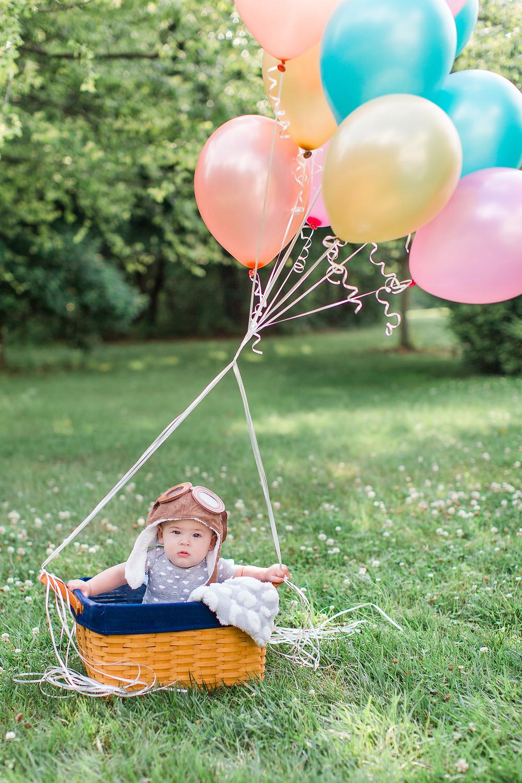 UP inspired photoshoot, baby mini session, Westminster Maryland, Maryland photographer