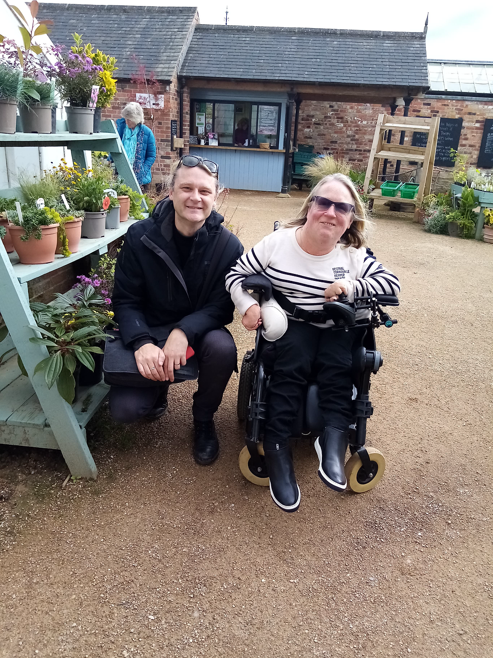 Jamie and Bridget at Helmsley Walled Garden