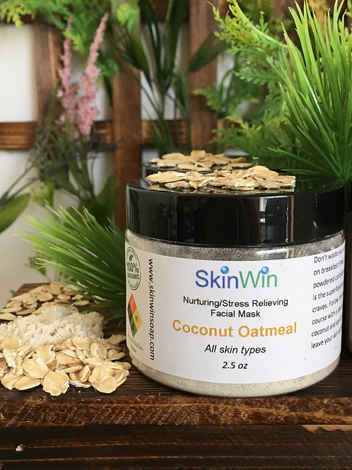 Coconut Oatmeal Face Mask