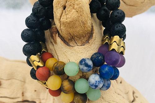 chakra bracelet by Olive+Parker