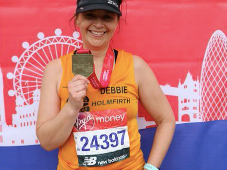 Our director runs the London Marathon for Kirkwood Hospice
