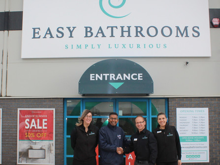Brand new Peterborough bathroom showroom partners with Sue Ryder hospice
