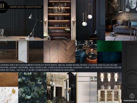 Empire House concept board