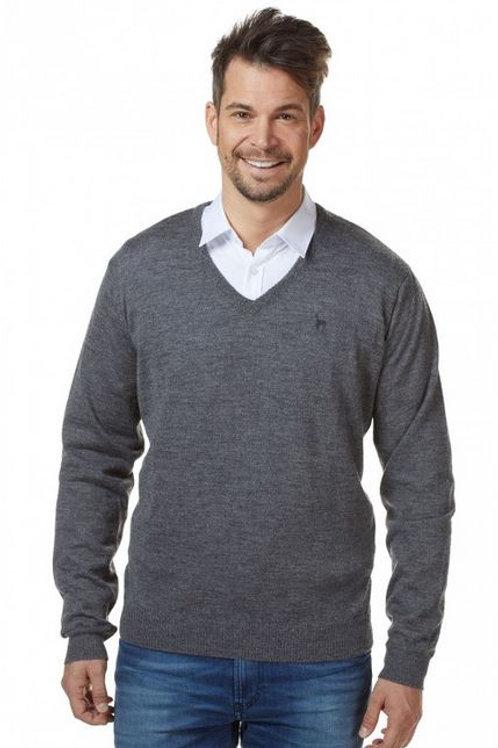 Baby Alpaka Herren Feinstrick BASIC Pullover mit V-Ausschnitt