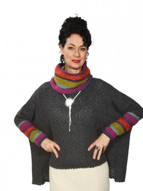 Damen Alpaka Poncho-Rolli