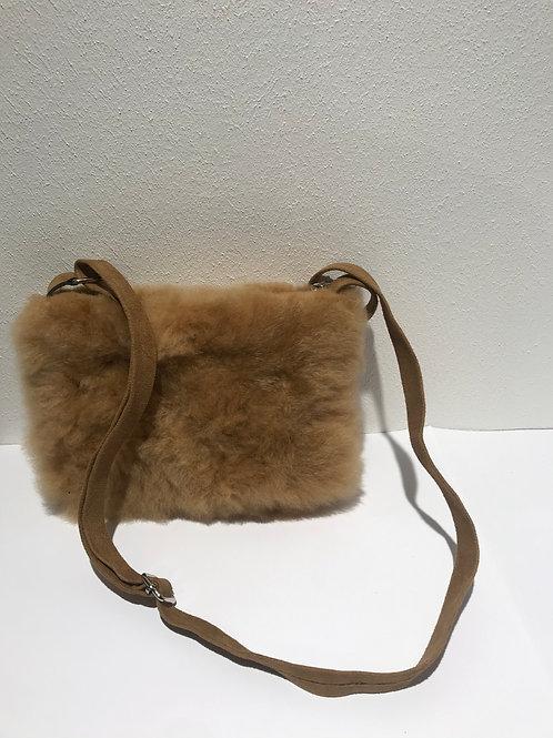 Fell-Handtasche mit Leder Riemen