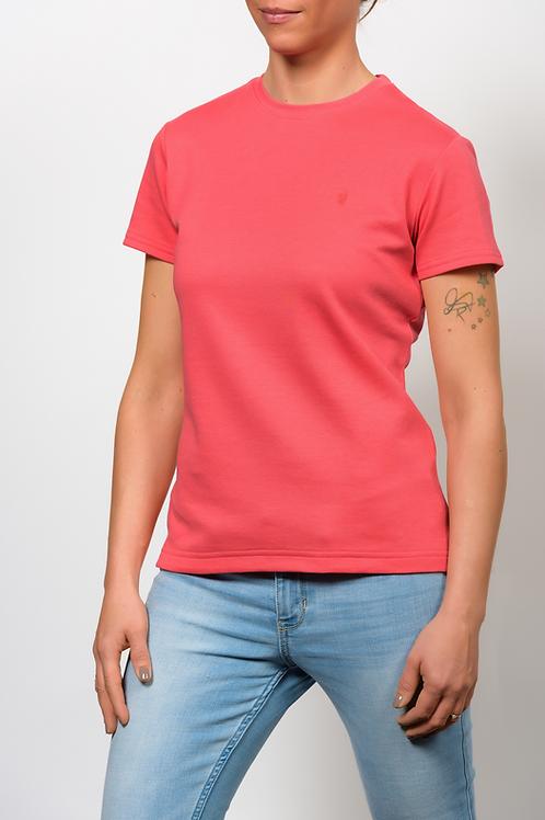 Baby Alpaka und Pima Baumwoll Rundhals T-Shirt für Damen