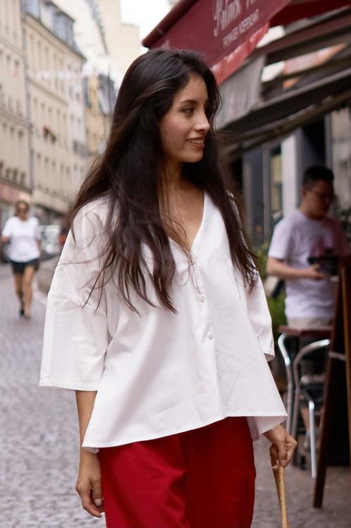 Damen Blusen-Hemd ARIS aus Bio-Pima Baumwolle