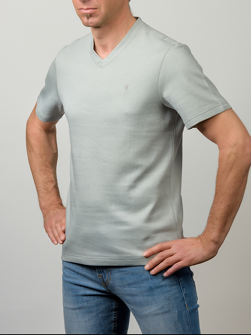 Baby Alpaka und Pima Baumwoll V-Shirt für Herren