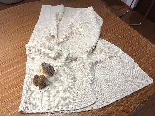 Baby Alpaka Baby-Decke handgestrickt