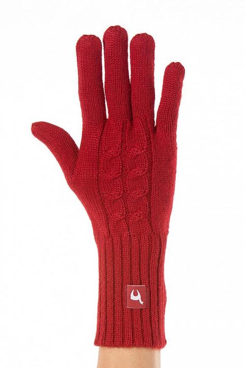 Alpaka Damen Fingerhandschuhe ZOPF