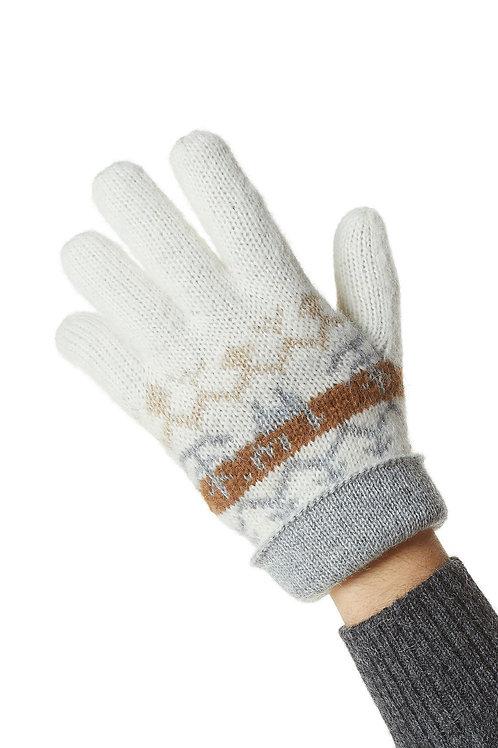 Wendbare Alpaka Fingerhandschuhe NATURA