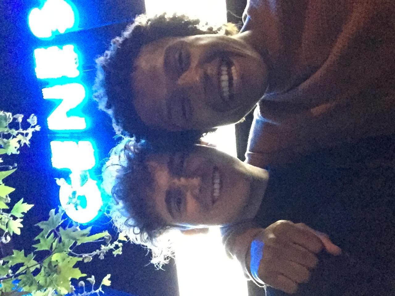 Jonathon with Percelle Ascott