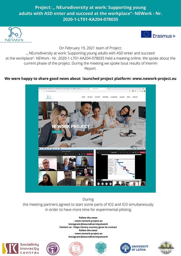 Virtualus susitikimas su Erasmus + KA204