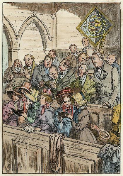 Church Choir - Randolph Caldecott 1875