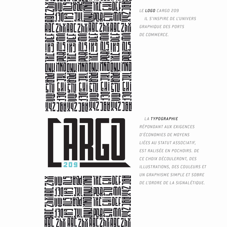 Logo et typographie Cargo 209
