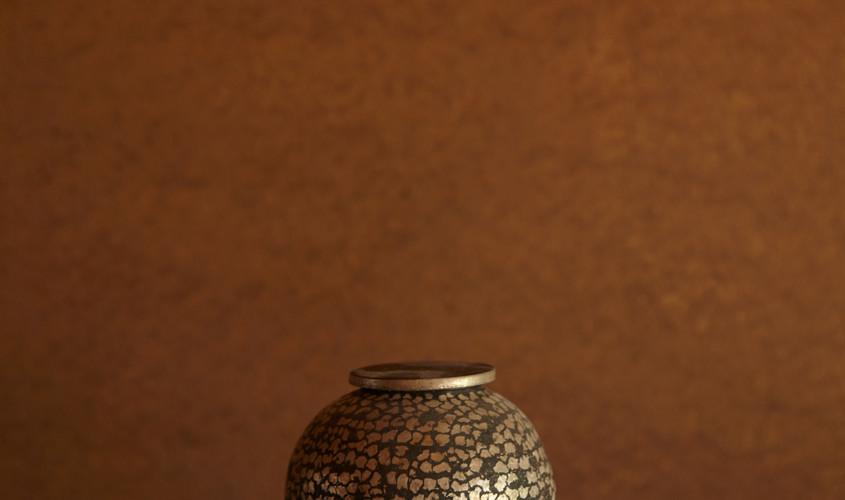 銀刻彩蓋器「咲」