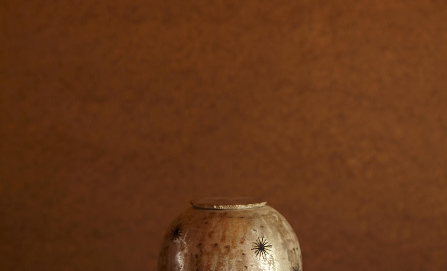 銀刻彩蓋器「煌」