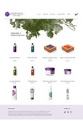 Wellness product store prototype design