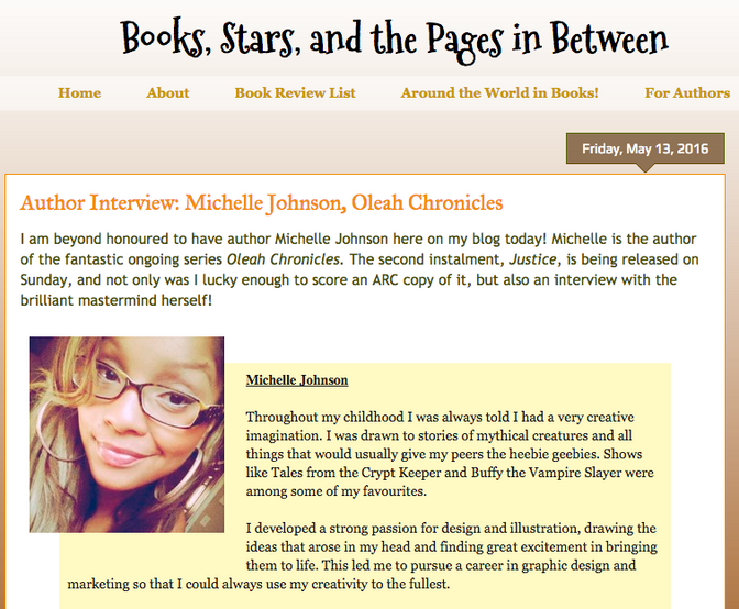 Interview with Books, Stars and the Pages in Between