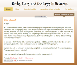 Books, Stars & the Pages In Between