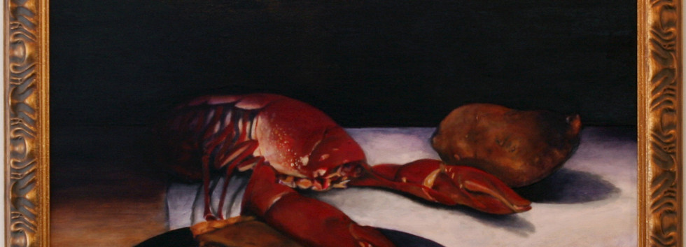 Still Life with Lobster and Sweet Potato