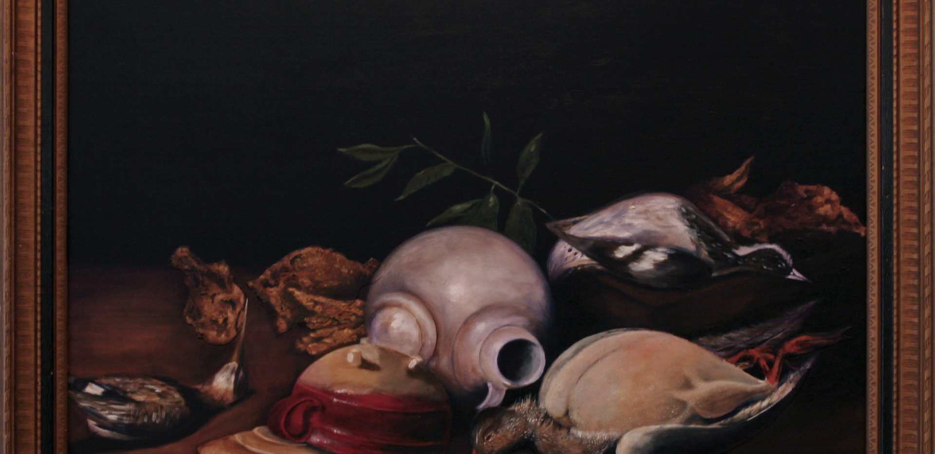 Still Life with Game Birds and Fried Chi