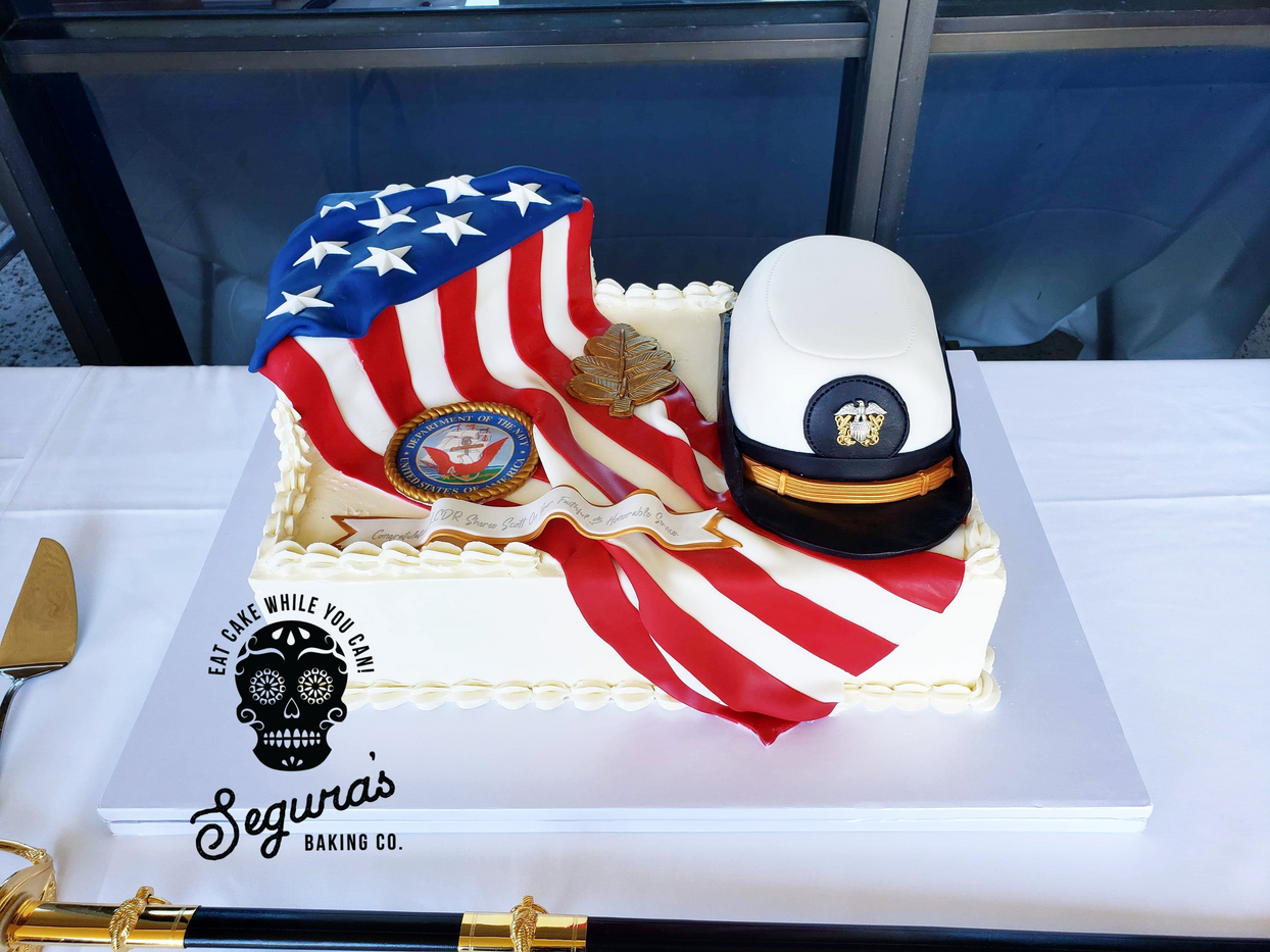 Female Chief Promotion Cake